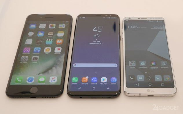 17539 Порівняння камер Samsung Galaxy S8, LG G6 і iPhone 7 Plus (6 фото)