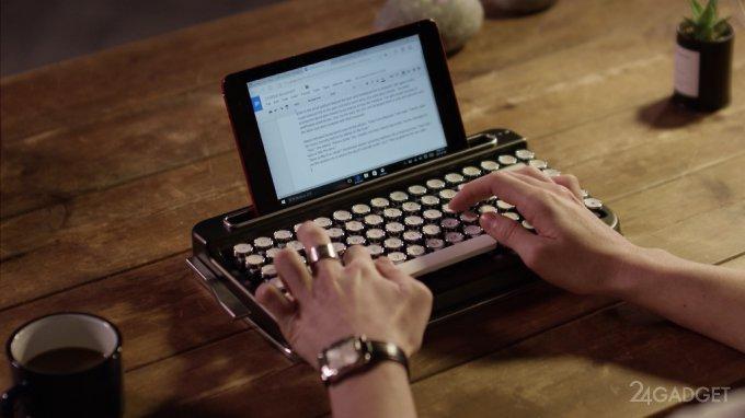 18319 Bluetooth-клавіатура в стилі друкарської машинки (9 фото + відео)