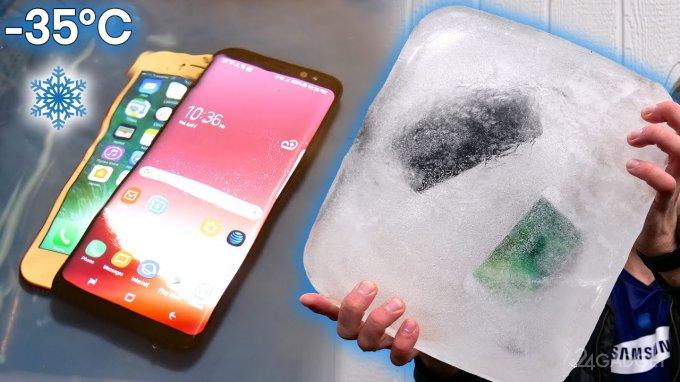 18065 Нові флагмани Samsung і Apple заморозили і скупали (4 відео)