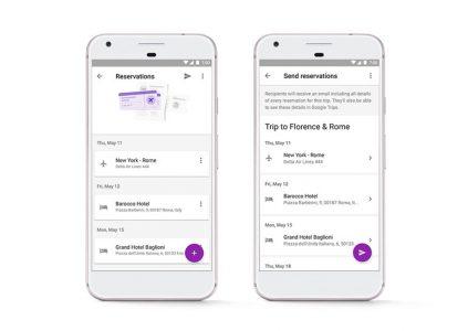 18776 Оновлене додаток Google Trips може автоматично завантажувати куплені квитки з Gmail і ділитися відомостями про поїздки