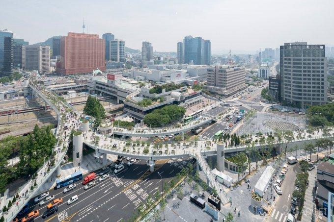 19756 Автостраду в центрі Сеула перетворили в ботанічний сад (19 фото)