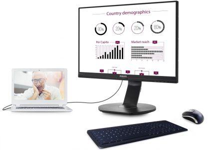 21206 В Україні стартували продажі монітора Philips 241B7QUPEB з вбудованою док-станцією USB для джерел зображення і периферії