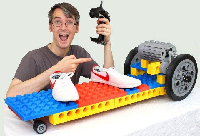 Електричний скейтборд в стилі Lego своїми руками (3 фото + 2 відео)
