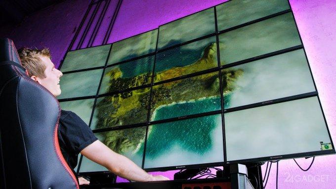 22572 Блогери зіграли в Minecraft, об'єднавши 16 моніторів в один (відео)