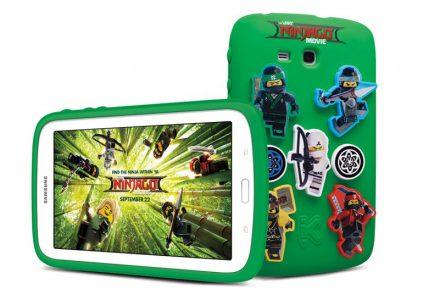 24361 До прем'єри фільму «Лего Фільм: Ниндзяго» Samsung створила дитячий планшет з відповідною стилістикою