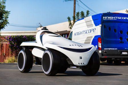 24482 Knightscope K7 — новый охранный робот в формате футуристичного багги, способный разворачиваться на месте и передвигаться боком