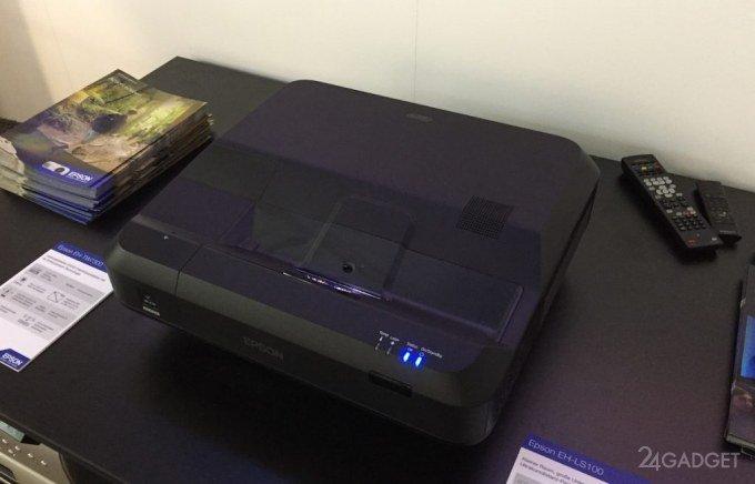 Проектор Epson LS100 — телевизоры теперь ни к чему!