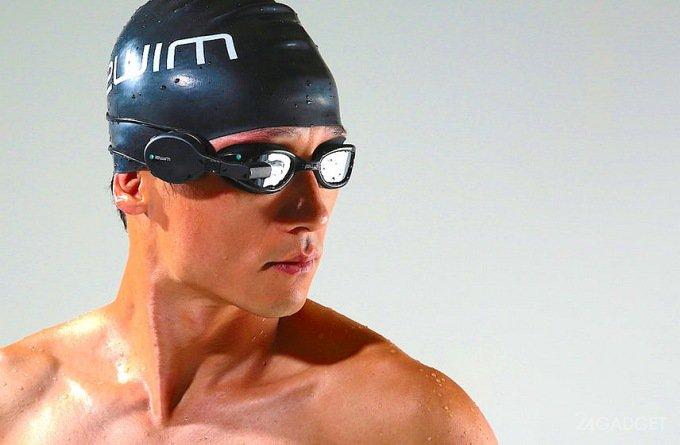 28593 Окуляри для плавання з функціоналом в стилі Google Glass (5 фото + відео)