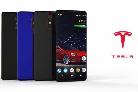 Після виходу офіційного мобільного акумулятора Tesla, дизайнер представив, як може виглядати перший смартфон компанії [відео]