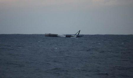 Ракета SpaceX Falcon 9 місії SES-16/GovSat-1 вціліла після падіння в Атлантичному океані