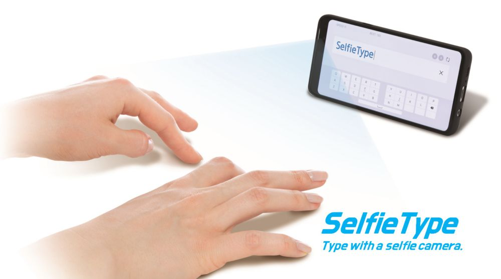 41812 SelfieType від Samsung: фронтальна камера смартфона стане клавіатурою