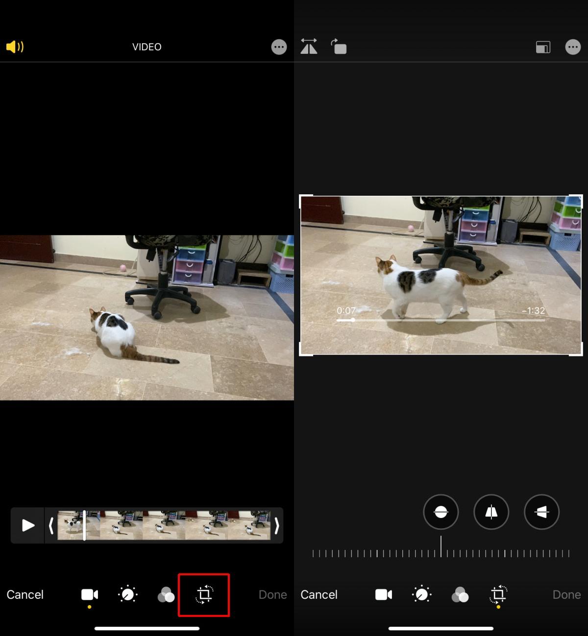 44145 Як кадрувати відео на iPhone