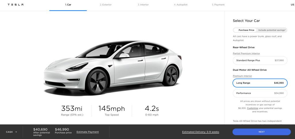 45334 Tesla официально представила обновленный Model 3 2021 модельного года