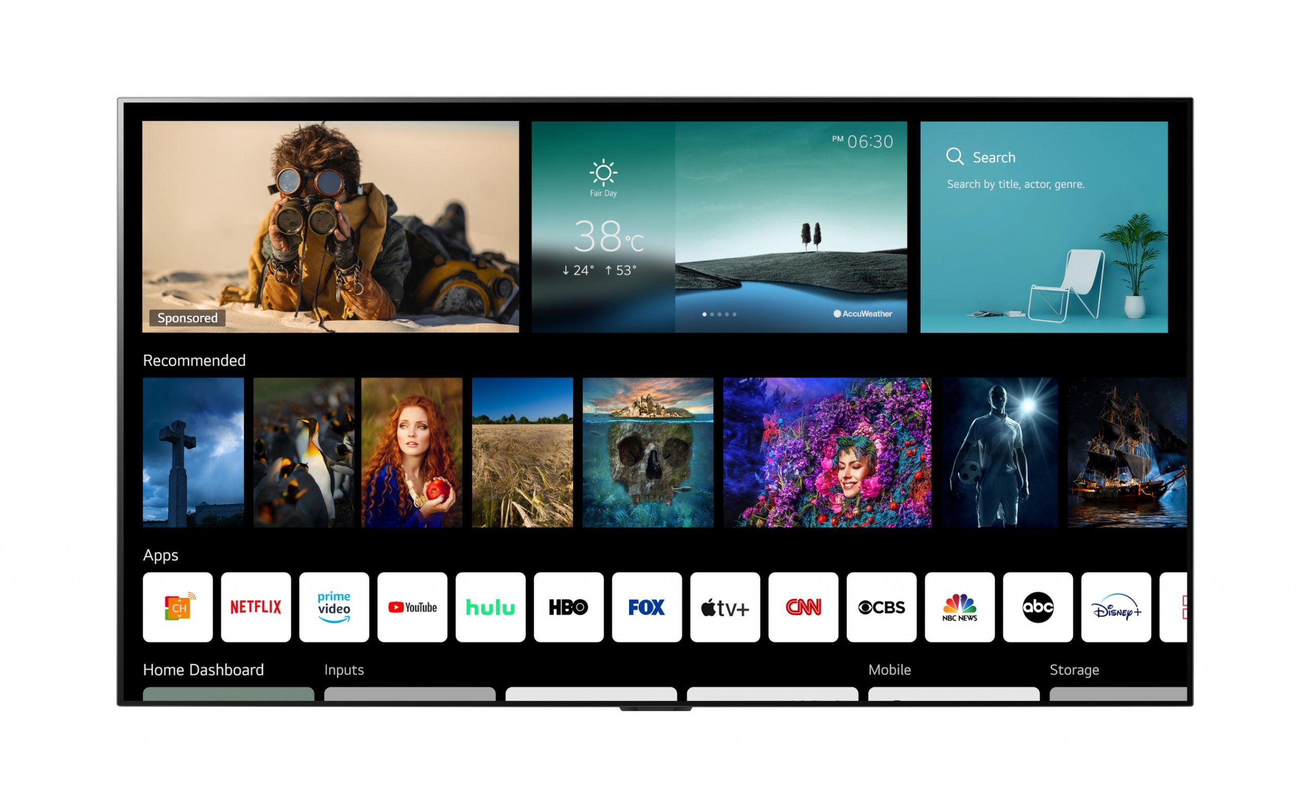 46196 LG анонсировала оболочку webOS 6.0 для новых смарт-телевизоров и пульт с NFC