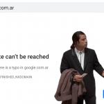46912 Google Search на время стал недоступен в Аргентине из-за того, что компания забыла продлить домен