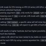 47610 Защита от майнинга на видеокартах GeForce RTX 30 LHR побеждена. Хотя пока и не полностью